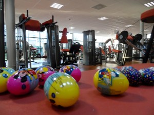 What better place for an Easter Egg hunt than the gym?